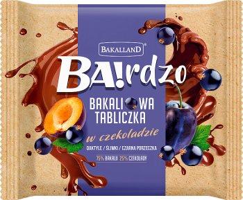 Bakalland Ba! Bakaliowa tabliczka  w czekoladzie daktyle / śliwki / czarna porzeczka