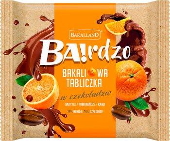 Bakalland Ba! Bakaliowa tabliczka  w czekoladzie daktyle / pomarańcze / kawa