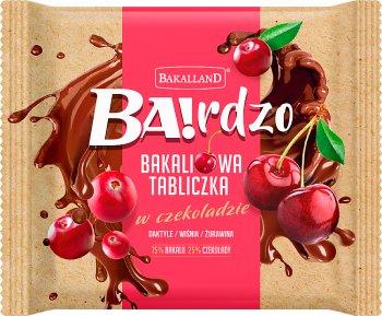 Bakalland Ba! Bakaliowa tabliczka  w czekoladzie daktyle / wiśnie / żurawina