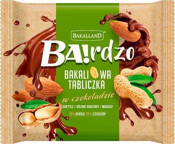 Bakalland Ba! Bakaliowa tabliczka  w czekoladzie daktyle / solone arachidy / migdały
