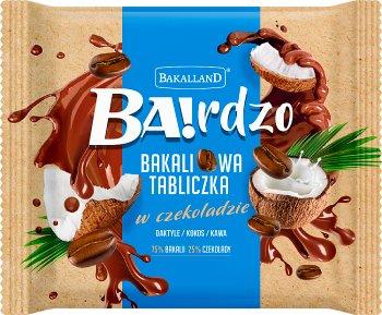 Bakalland Ba! Bakaliowa tabliczka  w czekoladzie daktyle / kokos / kawa