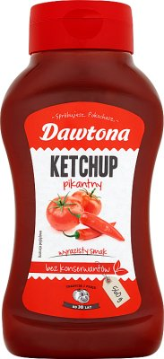 Dawtona Ketchup pikantny  bez konserwantów