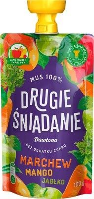 Dawtona Drugie śniadanie Mus 100%  marchew mango jabłko