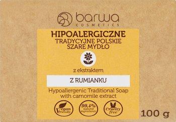 Barwa Hipoalergiczne tradycyjne  polskie szare mydło z ekstraktem z rumianku