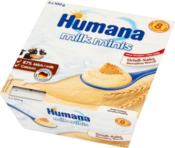 Humana Milk Minis Deserek mleczny  kaszka z herbatnikiem