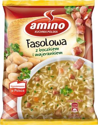 Amino Zupa błyskawiczna fasolowa z boczkiem i majerankiem