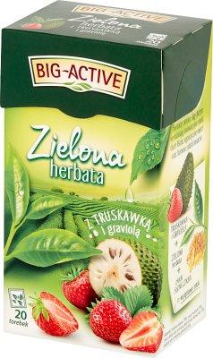 Té verde Big-Active con fresa y graviolia express.