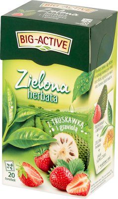 Big-Active Herbata zielona z truskawką i graviolą ekspresowa