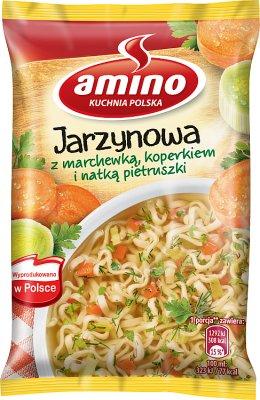 Amino Zupa błyskawiczna jarzynowa z marchewką koperkiem i natką pietruszki