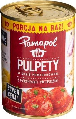 Pamapol Pulpety w sosie pomidorowym z marchewką i pietruszką