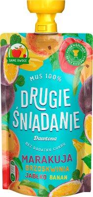 Dawtona Drugie śniadanie Mus 100%  marakuja brzoskwinia jabłko banan