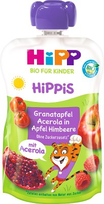 HiPP SUPER HiPPiS Jabłka-Maliny-Granat-Acerola BIO