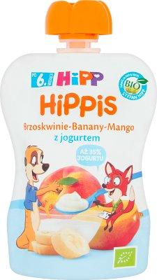 HiPP BIO HiPPiS Mus owocowy brzoskwinie-banany-mango z jogurtem
