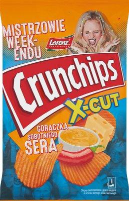 Crunchips X-Cut Chipsy ziemniaczane grubo krojone o smaku ostrego sosu serowego