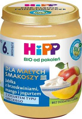 HiPP Jabłka z brzoskwiniami, mango i jogurtem BIO