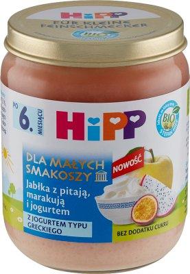 Jabłka z pitają marakują i jogurtem BIO