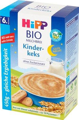 Leche Hipp y papilla de cereal Na Dobranoc BIO con galletas sin azúcar agregada