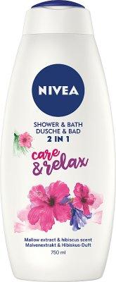 Nivea Płyn do kąpieli i żel  pod prysznic 2 w 1 Care&Relax