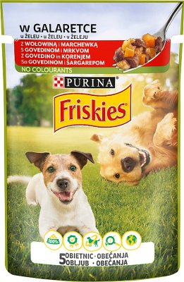 Friskies Vitafit Adult Karma  dla psów z wołowiną i marchewką w galaretce