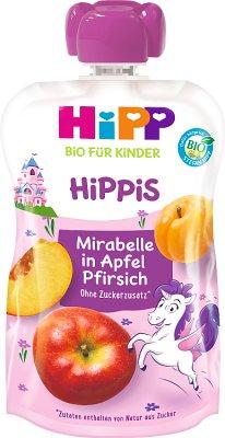 HiPP BIO HiPPiS Mus owocowy od 1. roku jabłka-mirabelki-brzoskwinie