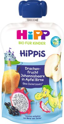 HiPP BIO HiPPiS jabłka-gruszki-  pitaja-porzeczki Mus owocowy (po 6.m-cu do podawania łyżeczką)