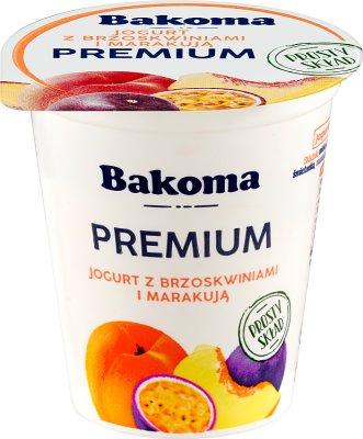Bakoma Premium Jogurt  z brzoskwiniami i marakują