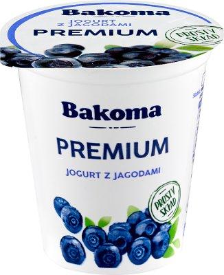 Bakoma Premium Yogurt with blueberries