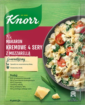Knorr Fix makaron kremowe 4 sery  z mozzarellą