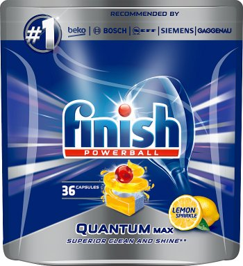 Termine las cápsulas Quantum Max Lemon para lavar los platos en el lavavajillas