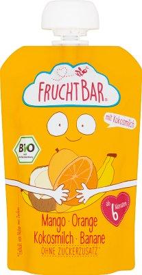 Fruchtbar Mus owocowy BIO mango, pomarańcz,mleko kokosowe, banan