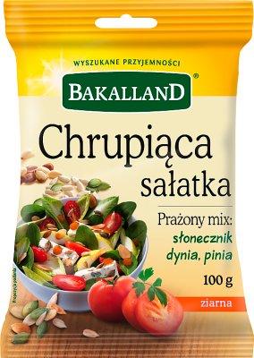 Bakalland Chrupiąca Sałatka prażony mix: słonecznik, dynia, pinia