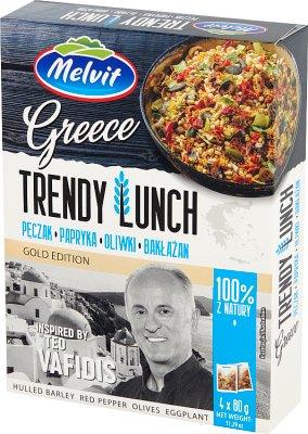 Melvit Trendy Lunch Greece Pęczak, papryka, oliwki, bakłażan 4 x 80 g