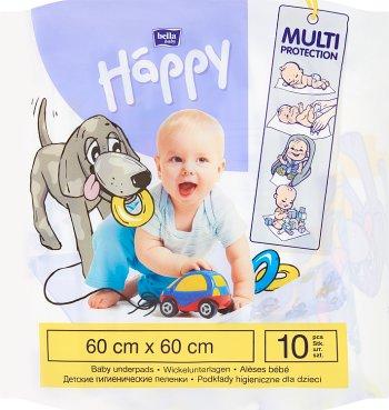 Bella Baby Happy Podkłady  higieniczne do przewijania 60x60cm