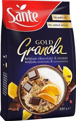 Sante Granola Gold шоколадно-оранжевый