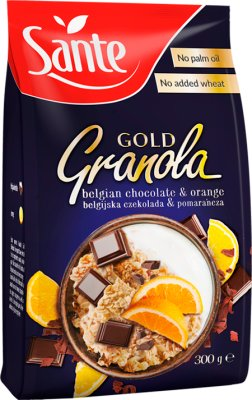 Sante Granola Gold  czekolada-pomarańcza