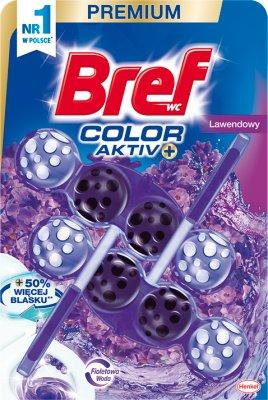 Bref Color Aktiv Zawieszka  myjąco-zapachowa do WC Lawendowa