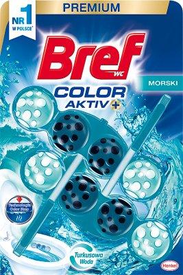 Bref Color Aktiv Zawieszka  myjąco-zapachowa do WC Morska