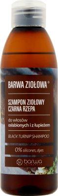 Barwa Ziołowa Szampon ziołowy  czarna rzepa do włosów osłabionych i z łupieżem