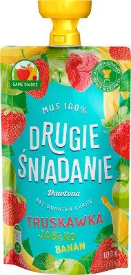 Dawtona The second breakfast Mousse 100% strawberry apple banana