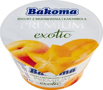 Bakoma Premium Exotic Jogurt  z brzoskwinią i karambolą