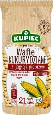 Kupiec Wafle kukurydziane jagła  i pieprz