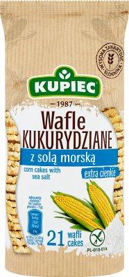 Kupiec Wafle kukurydziane z solą  morską