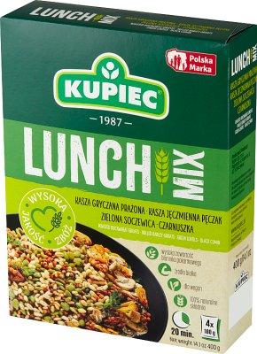 Kupiec Lunch Mix kasza gryczana,  pęczak, soczewica, czarnuszka 4 x100 g