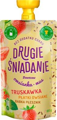 Dawtona Drugie śniadanie Owsianka  + mus truskawka płatki owsiane babka płesznik
