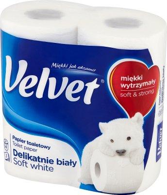 Velvet Papier toaletowy delikatnie  biały