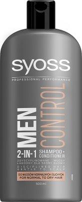 Schwarzkopf Syoss Men Control  Szampon 2in1 do włosów normalnych i suchych