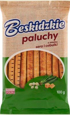 Aksam Beskidzkie Dedos con sabor a queso y cebolla