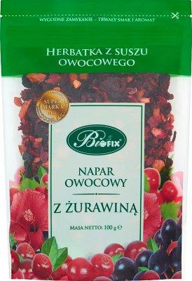 Bifix Napar owocowy z żurawiną Herbatka z suszu owocowego