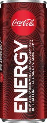 Coca-Cola Energy Napój gazowany energetyzujący z kofeiną, ekstraktem z guarany i witaminami z grupy B