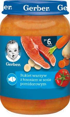 Gerber Bukiet warzyw z łososiem  w sosie pomidorowym